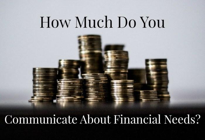 Financial needs