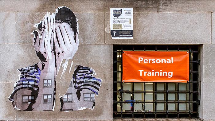 street art hands