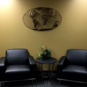 Enjoy comfy chairs as you wait for your SEO expert.