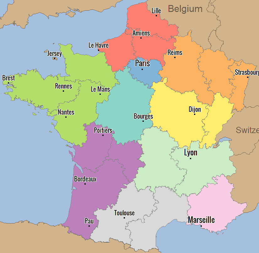 France Territory Alignment