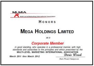 network marketing mlmia Mega Holdings MLMIA Sertifikası MLMIA Sertifikası mlmia megaholdings 300x210