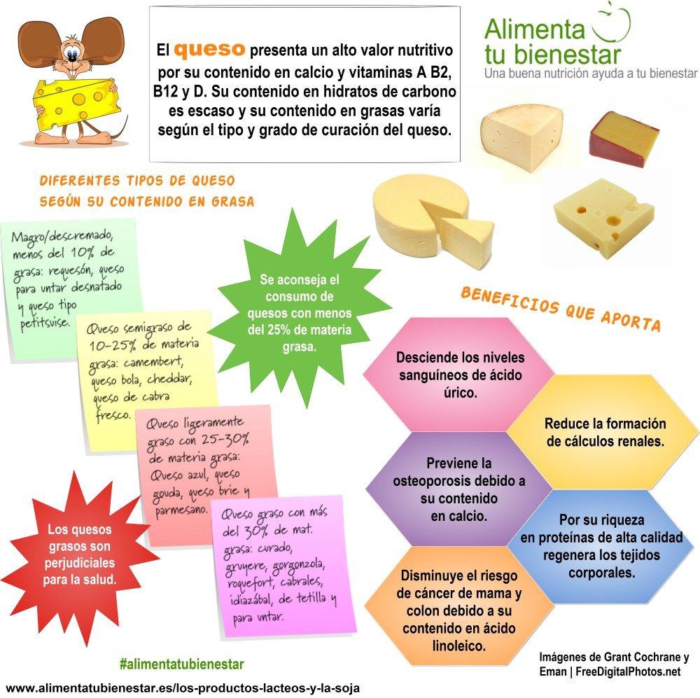 Tipos de quesos y sus beneficios para la salud