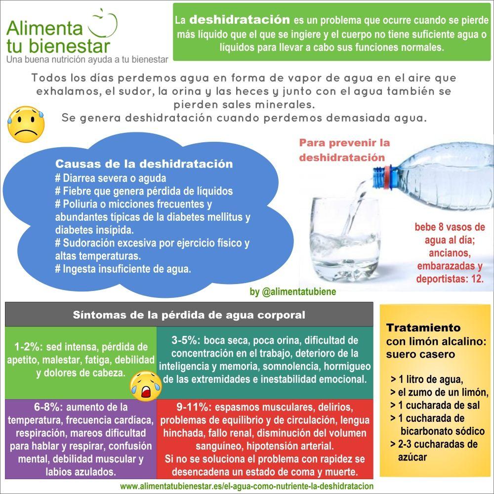 Infografía Deshidratación - Agua como nutriente