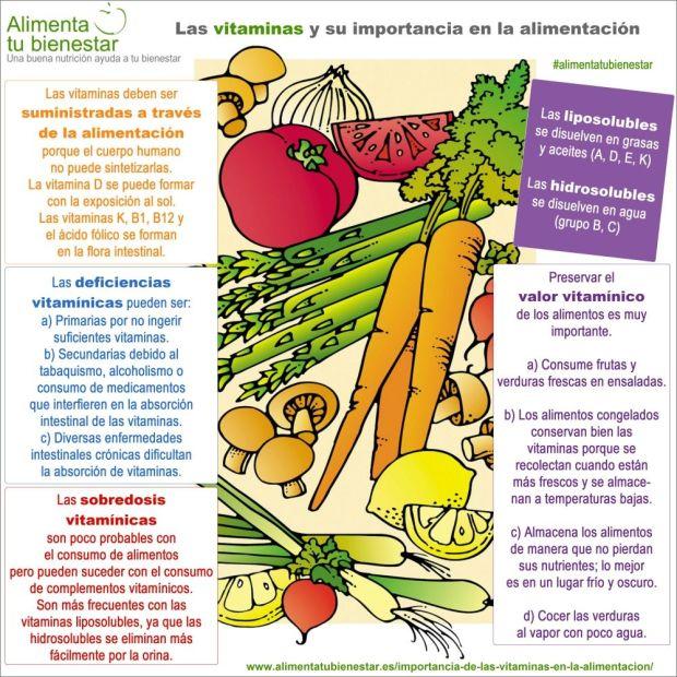 importancia de las vitaminas en la alimentacion - infografia