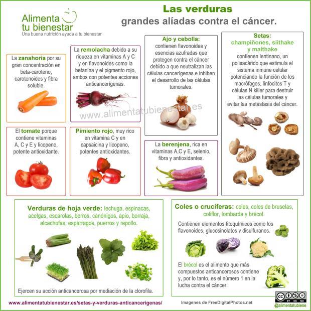 Setas y verduras para combatir el c ncer for Plantas hortalizas ejemplos