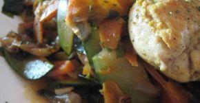 Receta de pechuga de pollo con salteado de verduras