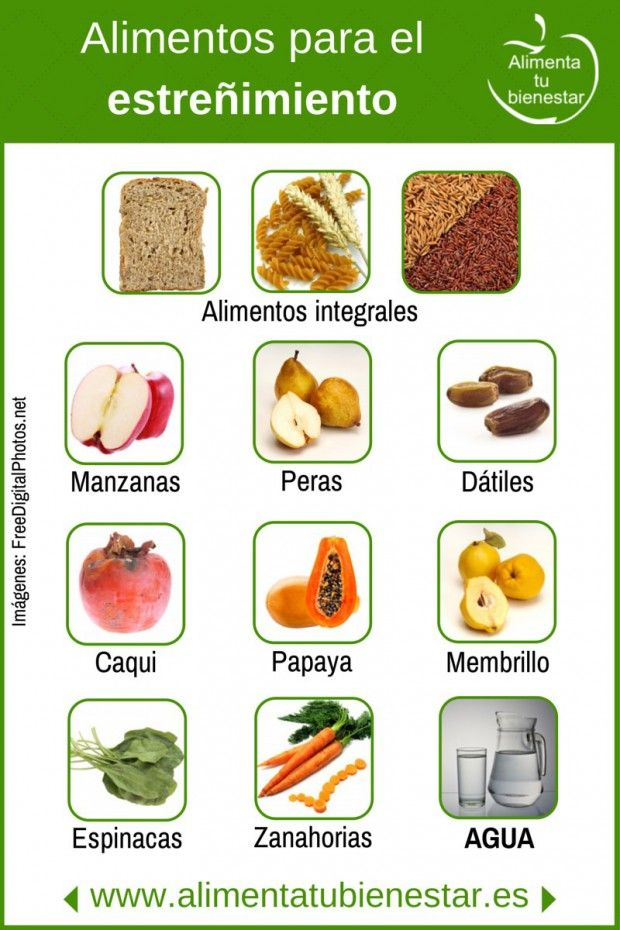Alimentos para el estreñimiento
