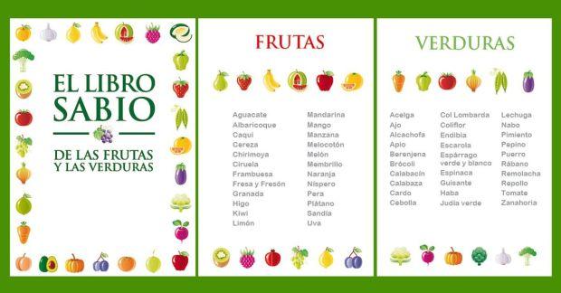 Libro sabio de las frutas y verduras