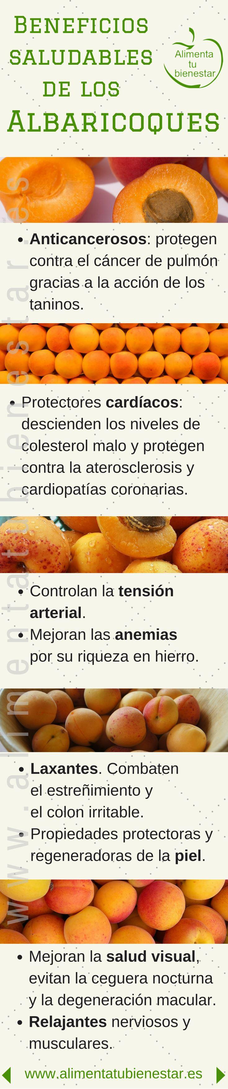 Beneficios para la salud de los albaricoques