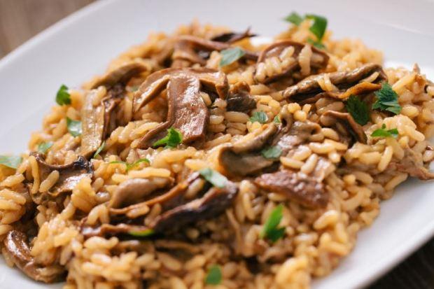 Risotto de arroz integral con setas