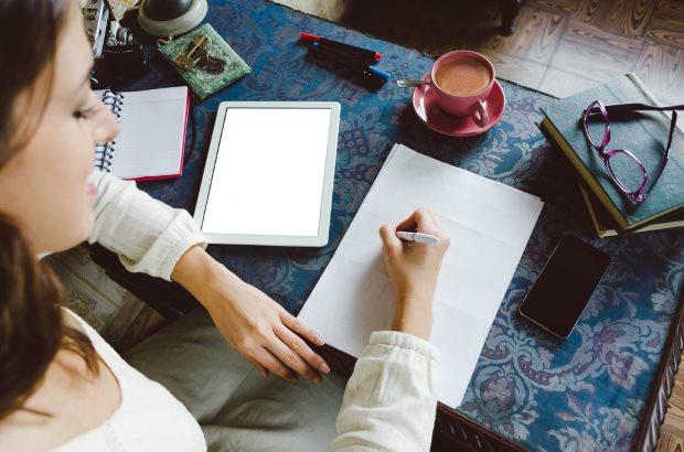 aficiones saludables como la escritura