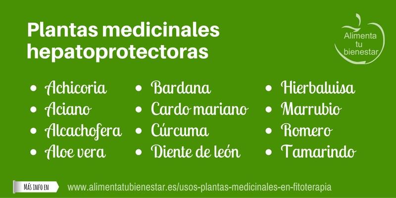 Plantas medicinales hepatoprotectoras