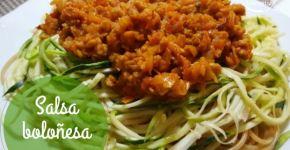 Salsa boloñesa vegana con soja texturizada (receta)