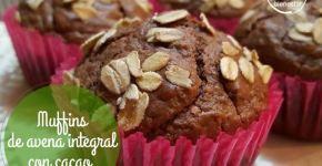 Muffins de avena integral con cacao y sin azúcar (receta)