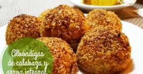 Receta Albóndigas de calabaza y arroz integral