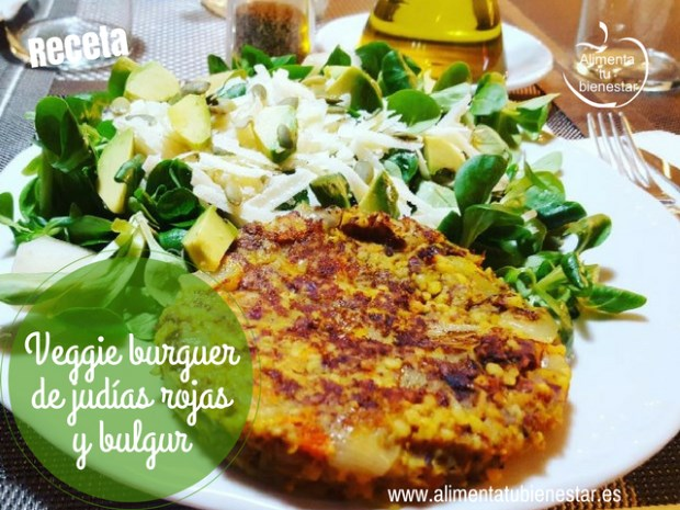 Hamburguesa Vegetal Veggie Burger De Judías Rojas Y Bulgur