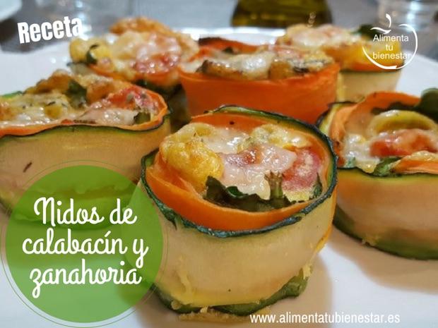 nidos de calabacín y zanahoria receta