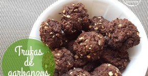 trufas de garbanzos receta dulce sin azúcar
