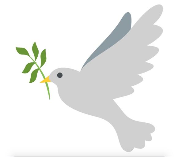 Paloma de la paz símbolo de solidaridad