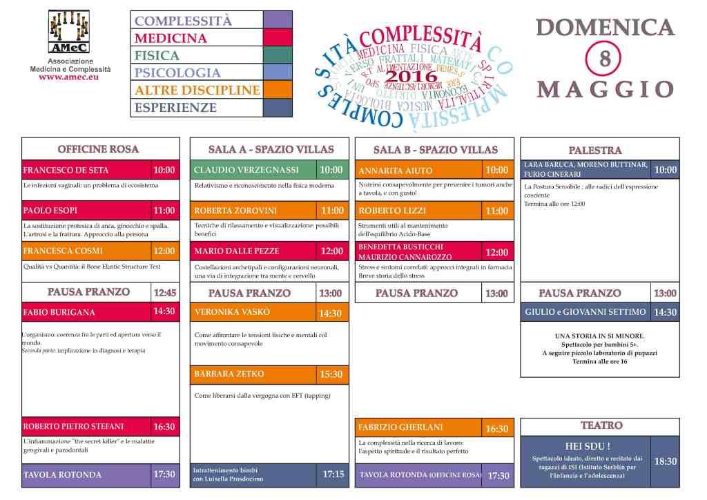 Programma Meravigliosa Complessità - Amec - Trieste 2016 - Festa della Conoscenza - 4