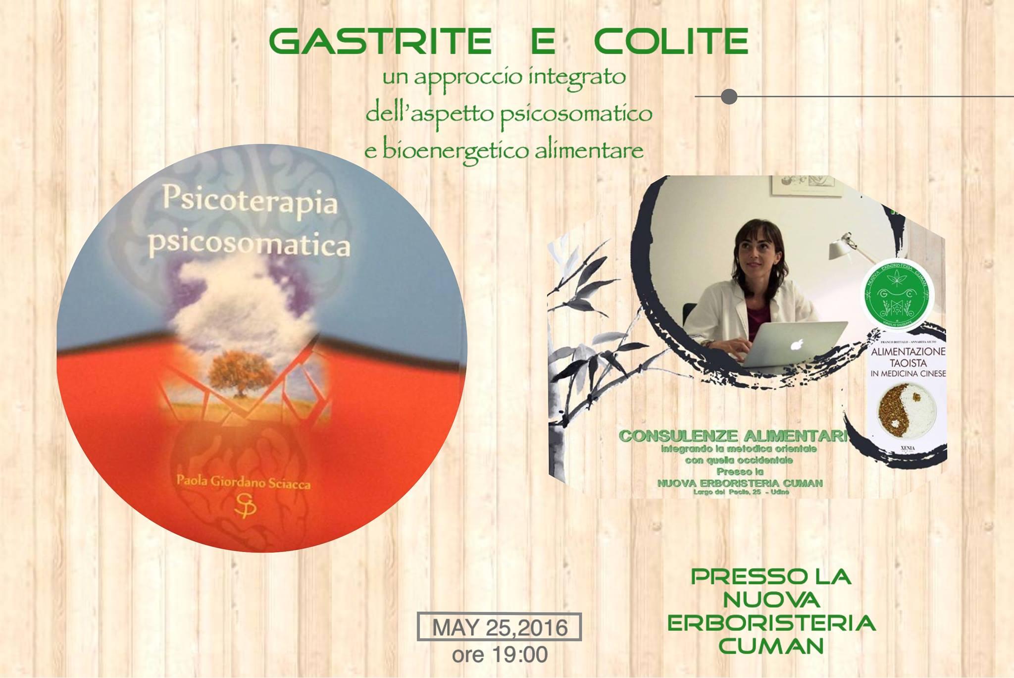 gastrite e colite - incontro a Trieste