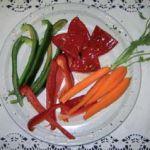 Verduras de la huerta palentina a la plancha con pimientos de Torquemada