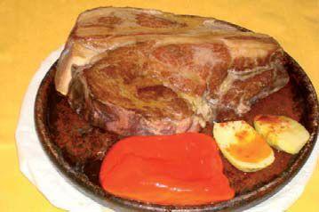 Carne roja a la piedra
