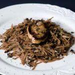 Fideos tostados con boletus edulis y foie fresco de Villamartín
