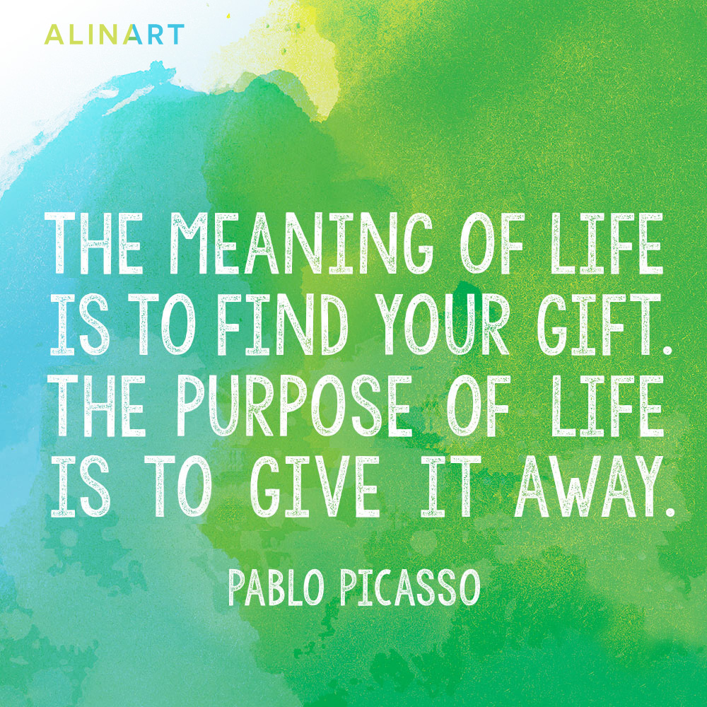 Inspirational Quote by Picasso