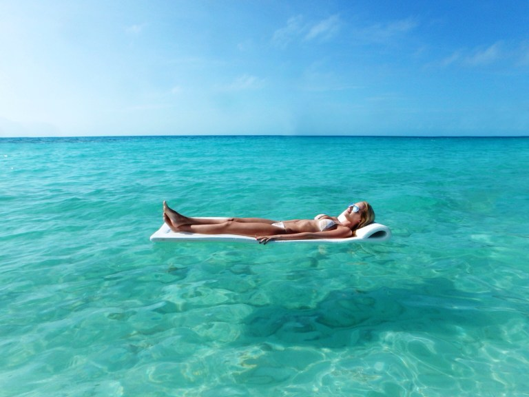 Relaxing at the beach at the Cove Eleuthera