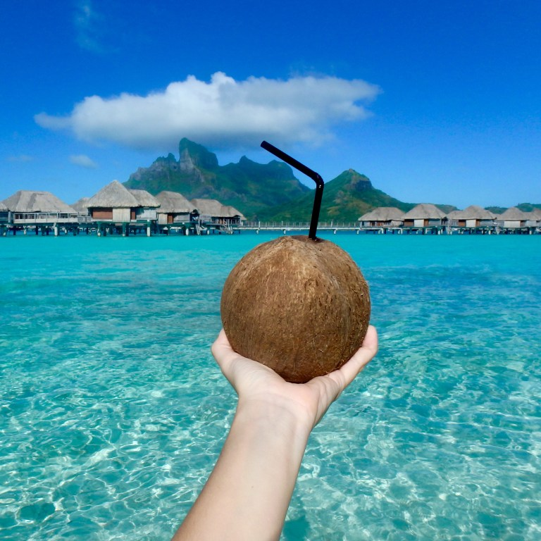 Who wants some fresh coconut water?