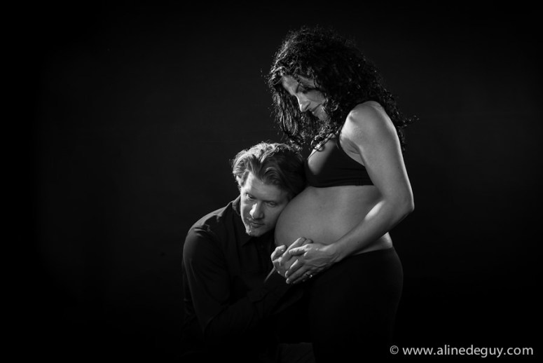 photographe couple studio, noir et blanc, photo
