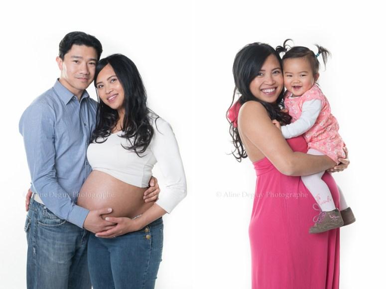 photographe femme enceinte, grossesse, aline deguy, 91, 92, 93, 94, 95, 77, 78, famille asiatique