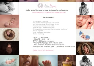 atelier photo, workshop, France, photographe nouveau-né, bébé, Paris, Aline Deguy, Studio