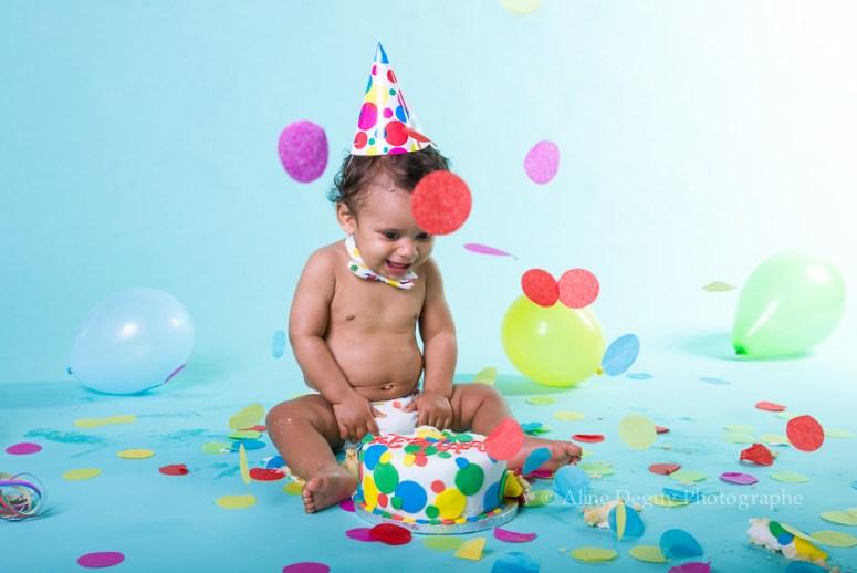 Photographe, anniversaire, Aline Deguy, Shooting, smash the cake, gâteau, cake design