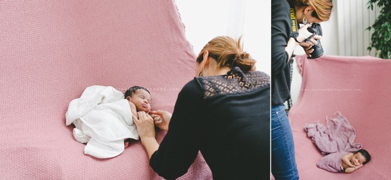 photo, backstage, Aline Deguy, Formation, Nouveau-né, bébé, photographie