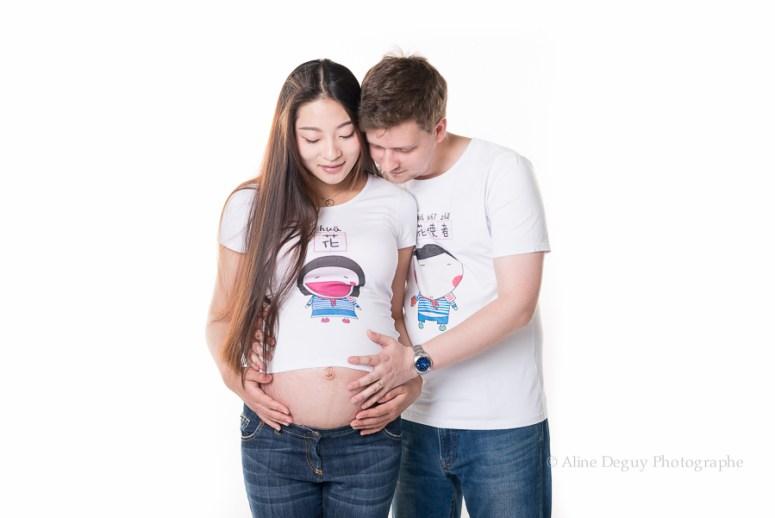 photographe couple, maternité, studio, asiatique, femme, Pékin, pregnant, pregnacy, grossesse