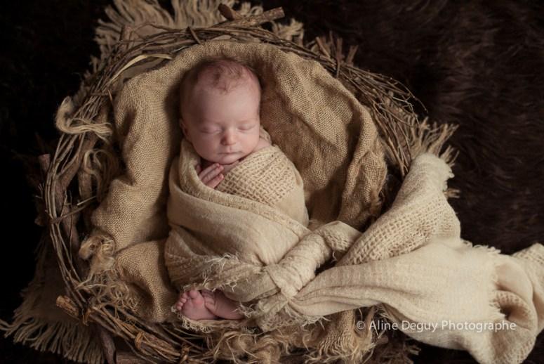 photo bébé endormi, Anne Geddes, Aline Deguy, Photographie artistique, studio
