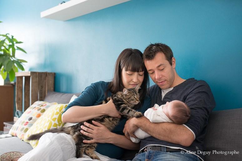 séance photo famille à domicile, naissance, bébé, nouveau-né