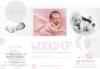 photographe - Aline Deguy- Workshop - Paris - newborn posing - nouveau-né