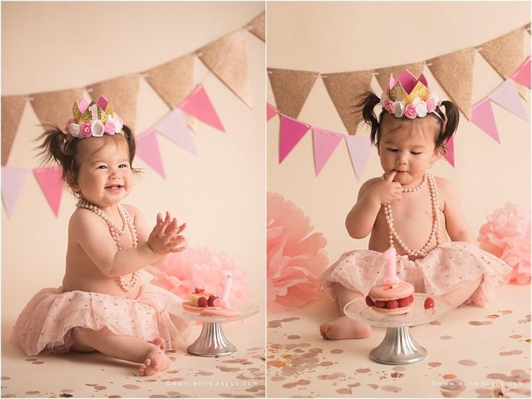 photographe bébé Asnieres, studio photo bébé, smash the cake, anniversaire bébé, photos anniversaire bébé, sourire de bébé, bébé métissé