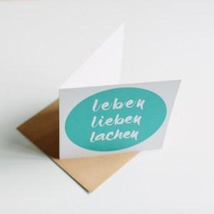 """Grußkarte """"leben lieben lachen"""", aline lange FOTOGRAFIE"""