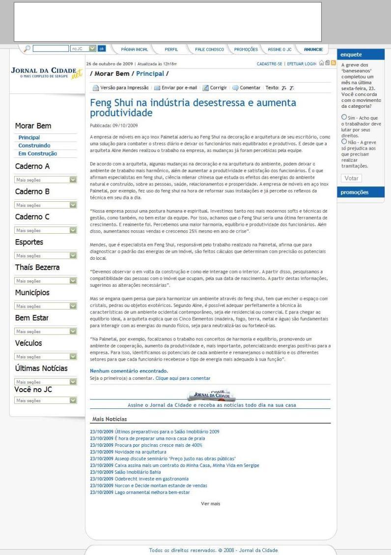 Jornal da Cidade - Outubro 2009