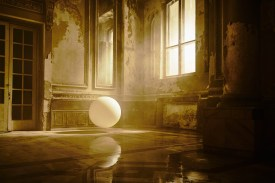 Balloon was bouncing around the beautiful interior