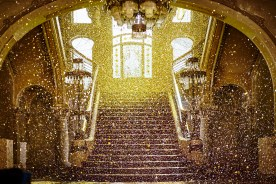 Gold everywhere on the staircase