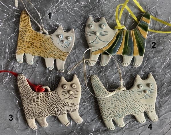 Cat christmas tree decorations