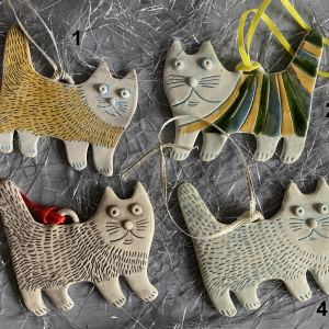 Cat christmas tree decorations