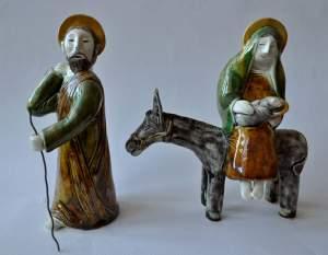 figurative-ceramics - 2.The-Flight-into-Egypt.-faience-glaze.-h17.-2011