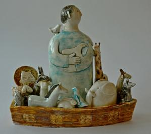 figurative-ceramics - 3.Noahs-Ark-faienceglazesh-20.2017