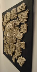 on-board - 5a.From-the-series-Corsica.Dream_.-chamotteoxides-panno-ceramic-decorated-on-the-wood-board70x70.-2012